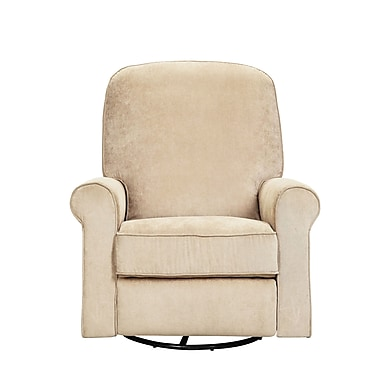 PRI Wood, Polyester Ashewick Swivel Glider in Crave Linen