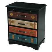 Pulaski Furniture Black & Multi Finish Accent Wood Chest