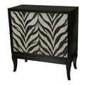 Pulaski Furniture Zebra Painted Wood Components & Select Hardwoods Hall Chest