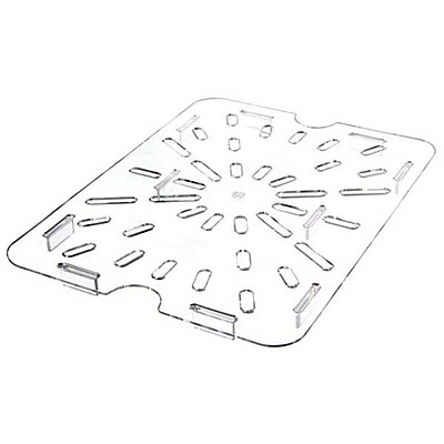 Carlisle 1023507, Half Size TopNotch Polycarbonate Drain Shelf, Clear 403145