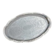 Carlisle 17-3/4'' Celebration Oval Tray with Ornate Border