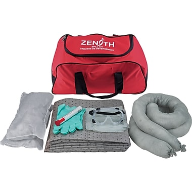Zenith Safety 10-Gallon Vehicle Spill Kits, Universal, With Nylon Bag