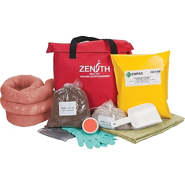 Zenith Safety 17-Gallon Western Canada Spill Kits, Hazmat, With Nylon Bag