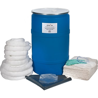 Zenith Safety 55-Gallon Eco-Friendly Spill Kits, Oil Only, With Polyethylene Drum