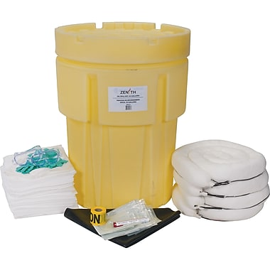 Zenith Safety 95-Gallon Economy Spill Kits, Oil Only, With Overpack Drum