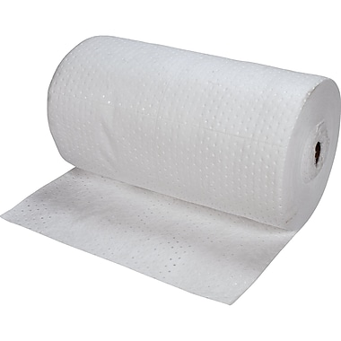 Zenith Safety Bonded Sorbent Rolls, Oil Only, Heavy, 150'L x 30