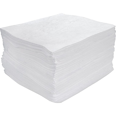 Zenith Safety Meltblown Sorbent Pads, Oil Only, Heavy, 100/Pack