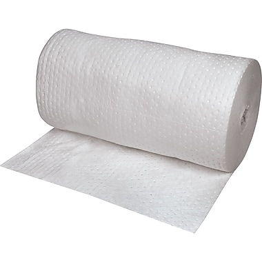 Zenith Safety Laminated (SMS) Sorbent Rolls, Oil Only, Heavy, 150'L x 30