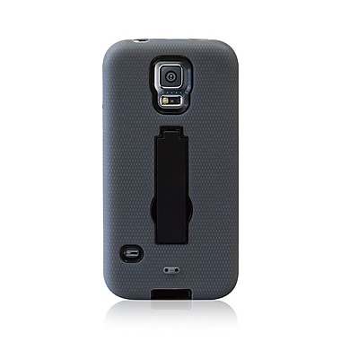LBT Samsung S5 Dual Case with Stand, Black & Grey