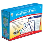 Carson-Dellosa Real World Mats Classroom Kit, Grade 3