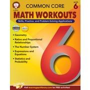Common Core Math Workouts Resource Book, Grade 6