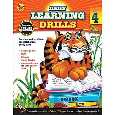 Carson Dellosa Daily Learning Drills Books, Gr 4