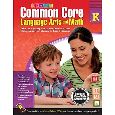 Common Core Language Arts & Math Resource Book Gr K