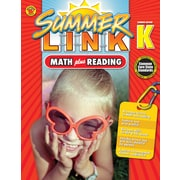Math Plus Reading Workbook, Carson Dellosa Workbook Grades P-K