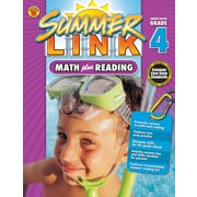 Math Plus Reading Workbook, Carson Dellosa Workbook Grades 3-4