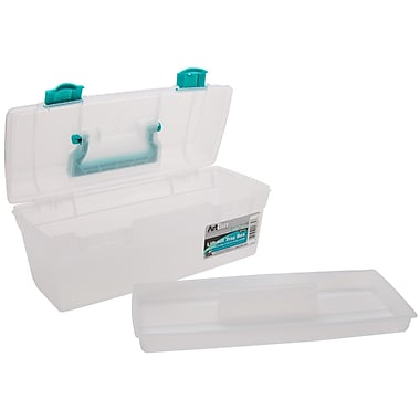 ArtBin 6937AB Clear/Green Essentials Lift-Out Tray With Handle, 13
