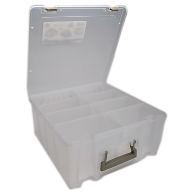 ArtBin 6990AB Super Satchel Clear Double Deep Box, 15.25