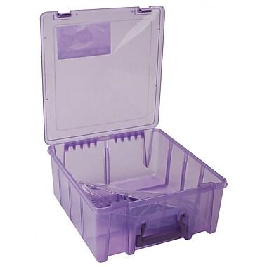 ArtBin 6996AB Super Satchel Transculent Purple Double Deep Box, 15.2