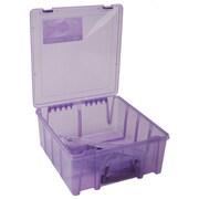 """ArtBin 6996AB Super Satchel Transculent Purple Double Deep Box, 15.2""""H x 14""""W x 6.2""""D"""