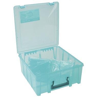ArtBin 6997AB Super Satchel Transculent Teal Double Deep Box, 15.2