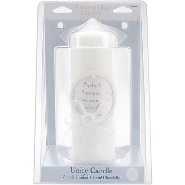 Darice  Darice Pillar Wedding Verse Candle 9in.