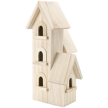 Darice Wood Darice 9166-54 Natural Birdhouse Manhatton 12