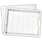 "Darice EWC0288 White Bead Storage Tray, 13.75"" x 10.5"" x 2"", 1/Set"