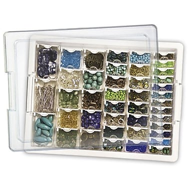 Darice EWC0510 White Bead Storage Tray, 13.75