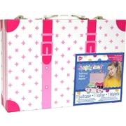 "Fibre Craft  Plastic Handle & Metal Snaps Suitcase 2.5"""