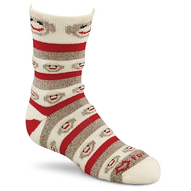 Fox River Red Heel Crew Monkey Stripe Socks Medium