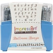 ImpressArt  Metal Lowercase Stamp Set 3mm Ballroom Boogie 0.11in.