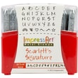 ImpressArt  Metal Uppercase Stamp Set Scarlett's Signature 2.8in.
