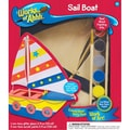 Masterpieces  Works of Ahhh Sail Boat Wood Paint Kit 10.2in.