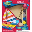 """Masterpieces  Works of Ahhh Sail Boat Wood Paint Kit 10.2"""""""