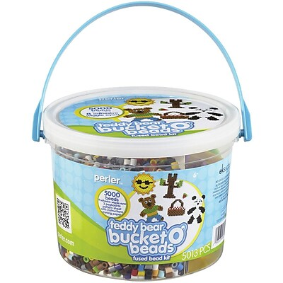 Perler Perler Fun Fusion Fuse Bead Activity Bucket-Teddy Bear 1056466