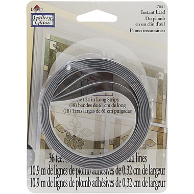 Plaid:Craft Glass Leading Gallery Glass Instant Lead Lines 8/Pack 24