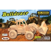 Puzzled  Wood Puzzled Bulldozer 3D