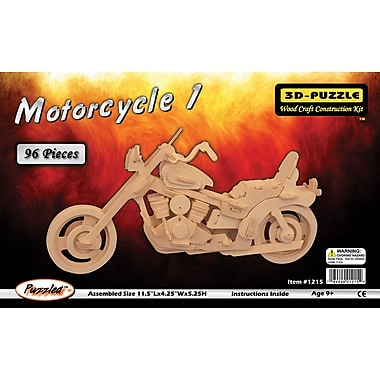 Puzzled Wood Puzzled Motorcycle 1 3D Natural Wood Puzzle 9