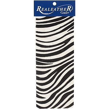 Realeather Crafts Leather Exotic Trim Piece Zebra 3.5