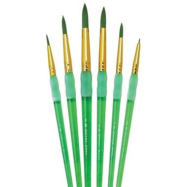 Royal Brush BK606 Big Kid's Choice Green Round Brush, 1/Pack