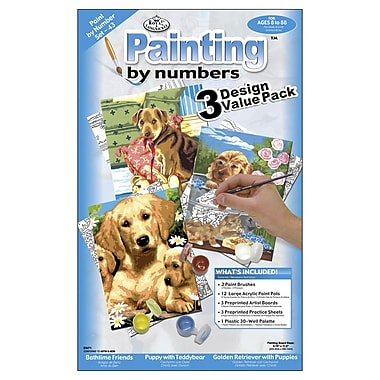 Royal Brush Junior Small Paint By Number Kit, 3/Pack (PBNVLPK-43)