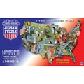 TDC Games  USA Shaped State - Birds Puzzle 7.8in. X 15.8in.