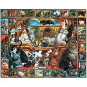 "White Mountain Puzzles  World of Cats 1000 Piece Jigsaw Puzzle 24"" X 30"""