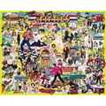 White Mountain Puzzles  White Mountain Puzzles The Fifties 1000 Piece Jigsaw Puzzle 24in. X 30in.