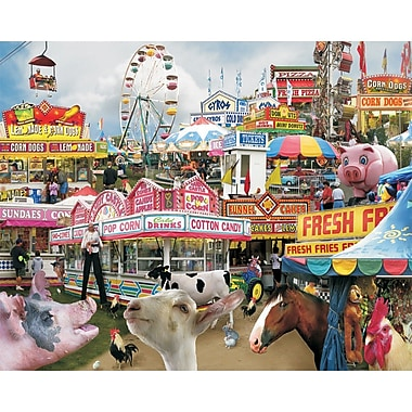 White Mountain Puzzles White Mountain Puzzles Down-Home Favorites, Country Fair,1000-pieces 24 x 30