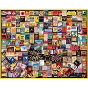 "White Mountain Puzzles  White Mountain Puzzles Matchbox Collage Jigsaw Puzzle, 1000-pieces 24"" x 30"""