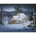 White Mountain Puzzles  Cardboard White Mountain Puzzles Fred Swan Winter Gold 24in. X 30in.