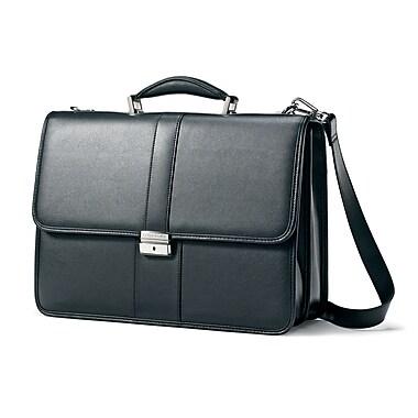 Samsonite Leather Flapover Briefcase 16.5