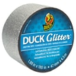 "Duck® Glitter® 1.88"" x 5 yds. 3"" Core Crafting Tape, Silver"
