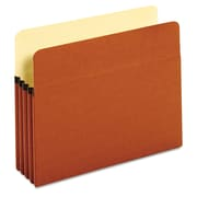 Cardinal Globe-Weis® Letter Standard File Pocket With 3 1/2 Expansion, Brown, 25/Box